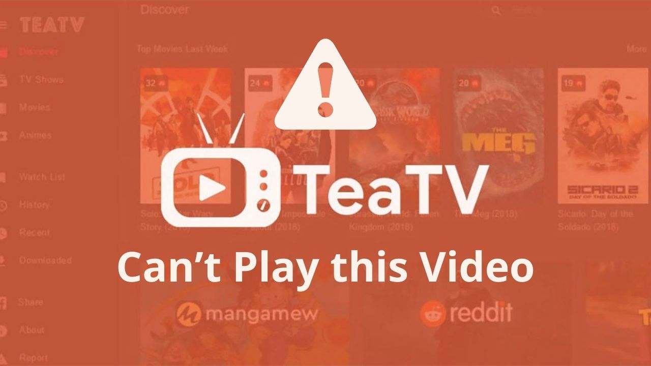 TeaTv Can't Play this Video Error